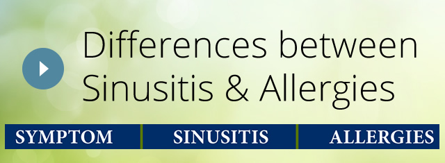 Differences between Sinusitis and Allergies